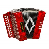 Stephanelli 2 Row Melodeon in D/G - RED