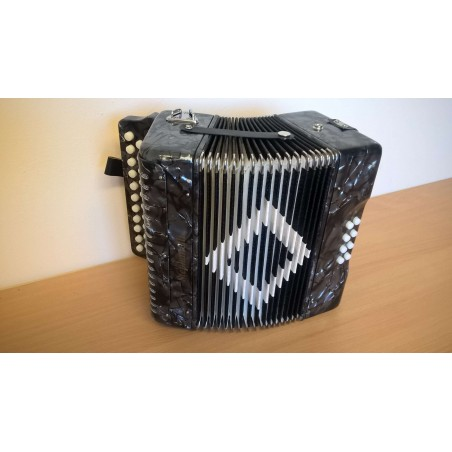 Stephanelli 2 Row Melodeon in B/C - Grey