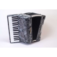 Stephanelli 24 Bass Accordion - Perloid Grey